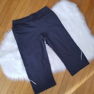 ATHLETA Gray Cropped Reflective Pants Size: M